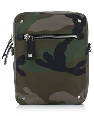 Sacoche en nylon imprimé camouflage VALENTINO