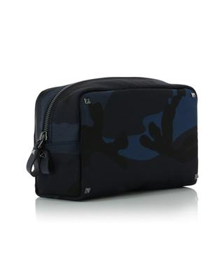 Camouflage print nylon toiletry case VALENTINO