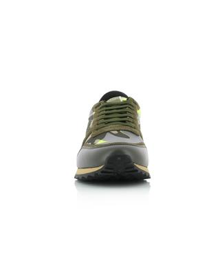 Camouflage Rockrunner nylon and suede sneakers VALENTINO