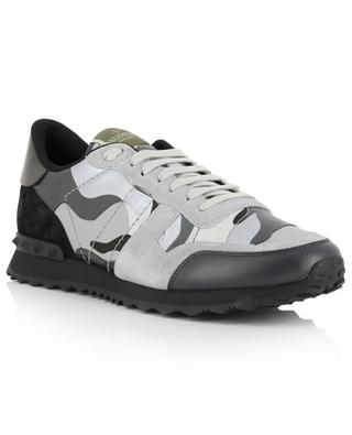 Camouflage Rockrunner low-top multi material sneakers VALENTINO