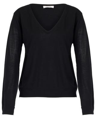 Pure Intimacy jumper with silk and lace yokes DOROTHEE SCHUMACHER