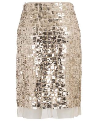 Seductive Layer sequin embroidered pencil skirt DOROTHEE SCHUMACHER