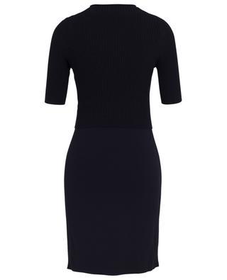 Kleid in 2-in-1-Optik aus Viskose-Stretch MARC CAIN