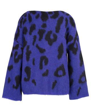 Loose cropped leopard jacquard jumper MARC CAIN