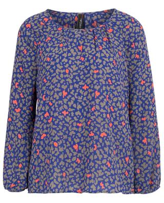 Flowy blouse with leo-camouflage print MARC CAIN