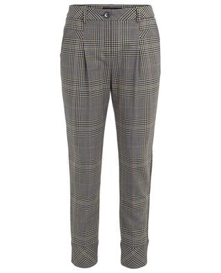 Virgin wool blend check straight trousers MARC CAIN