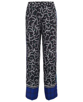Floral print wide trousers MARC CAIN