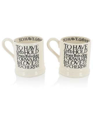 Set aus 2 Mugs Black Toast Mr & Mrs EMMA BRIDGEWATER