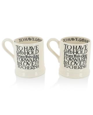 Black Toast Mr & Mrs set of 2 mugs EMMA BRIDGEWATER