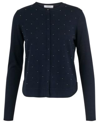 Wool cardigan with studs AKRIS PUNTO