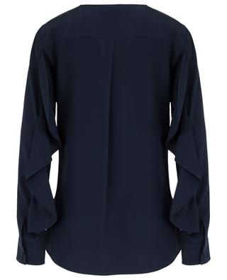 Silk blouse with long ruffled sleeves AKRIS PUNTO