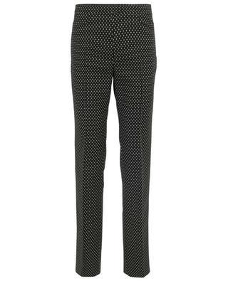 Françoise printed stretch trousers AKRIS PUNTO