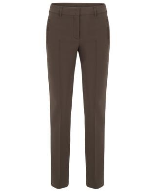 Fabia thick crêpe straight fit trousers AKRIS PUNTO
