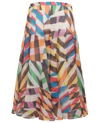 Printed net A-line skirt AKRIS PUNTO
