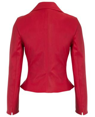 Cinched nappa leather moto jacket AKRIS PUNTO