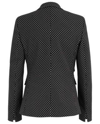 Diamond pattern jacquard blazer AKRIS PUNTO