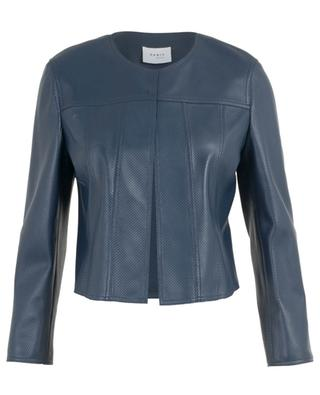Open perforated leather jacket AKRIS PUNTO