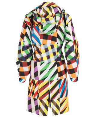 Patchwork-Print multicolour three-quarter length rain coat AKRIS PUNTO