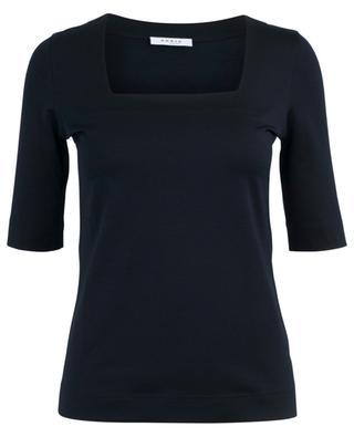 Square neck slim fit T-shirt AKRIS PUNTO