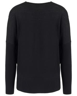Weiter Pullover mit V-Ausschnitt und Nieten AKRIS PUNTO