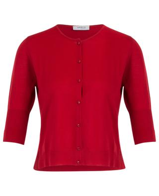 Button-down fine cardigan with three-quarter sleeves AKRIS PUNTO