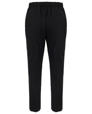 Cropped virgin wool trousers with topstitching N°21
