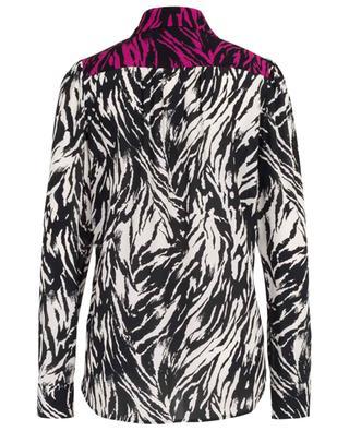 Zebra print viscose shirt N°21