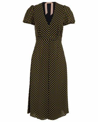 Flared polka dot midi dress N°21