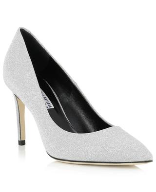 Glitter leather pointy tip pumps BONGENIE GRIEDER