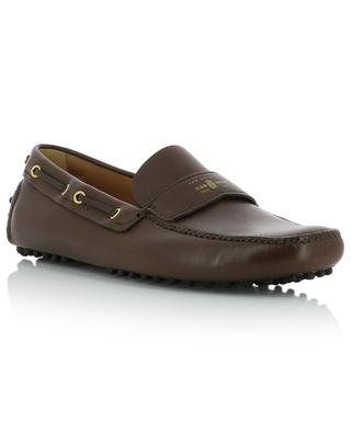 Smooth leather logo strap loafers CAR SHOE