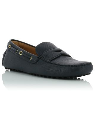 Strap detail grained leather loafers CAR SHOE
