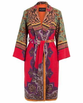 Manteau droit oversize léger imprimé patchwork ETRO