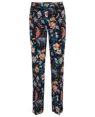 Printed silk straight trousers ETRO
