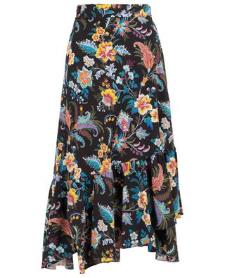 Printed cotton wrap skirt ETRO