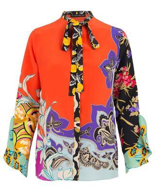 Printed silk shirt with necktie ETRO