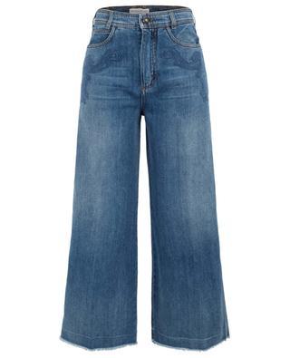 Weite Jeans mit hoher Taille mit Paisley-Stickereien ETRO