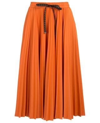 Pleated midi-length cotton jerseay skirt FENDI