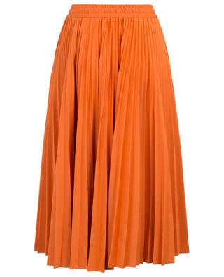 Pleated midi-length cotton jerseay skirt FENDI