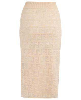 Pencil skirt with sheer FF pattern FENDI