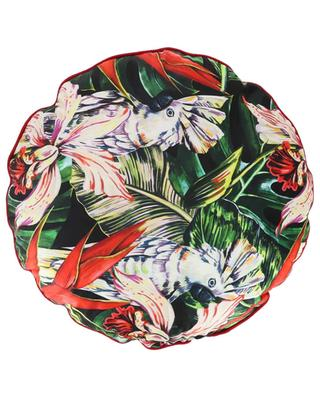 Cocatoo embellished round cushion KERSTEN