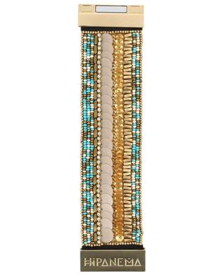 Byblos Turquoise bead embroidered cuff HIPANEMA