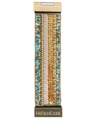 Perlenbestichte Manschette Byblos Turquoise HIPANEMA