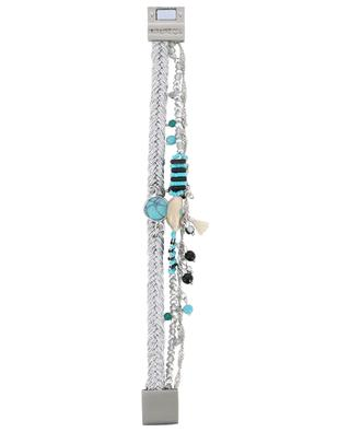 Baya-Link Turquoise silver three-strand bracelet HIPANEMA