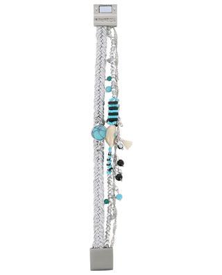 Dreisträngiges silbernes Armband Baya-Link Turquoise HIPANEMA