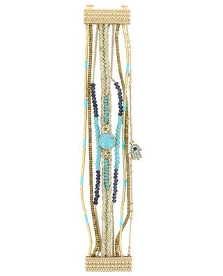 Mehrsträngiges goldenes Armband Diwali Turquoise HIPANEMA