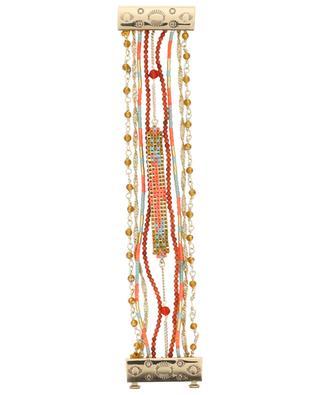 Mehrsträngiges Armband mit Magnetverschluss Puebla Coral HIPANEMA