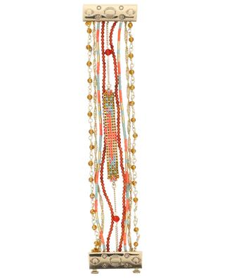 Bracelet multi-liens aimanté Puebla Coral HIPANEMA