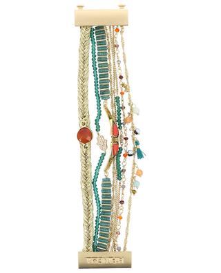 Mehrsträngiges goldenes Armband Splendor Green HIPANEMA