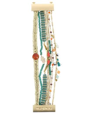 Bracelet multi-lien doré Splendor Green HIPANEMA