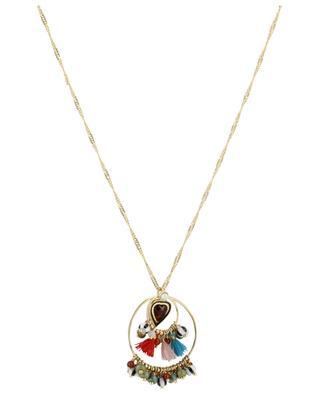 Lange goldene Halskette Ringen und Herz Sumatra Multi HIPANEMA